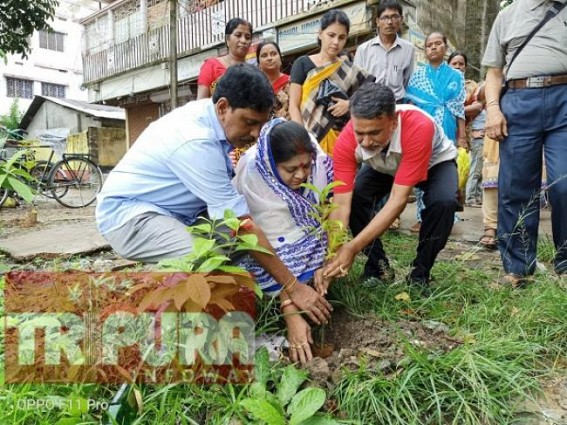 BJP, Congress leaders jointly planted trees