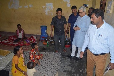Deputy CM visited flood affected areas in Agartala. TIWN Pic July 15