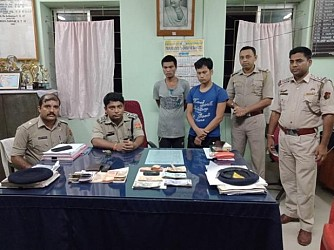 2 robbers arrested by Amarpur Police. TIWN pic July 17