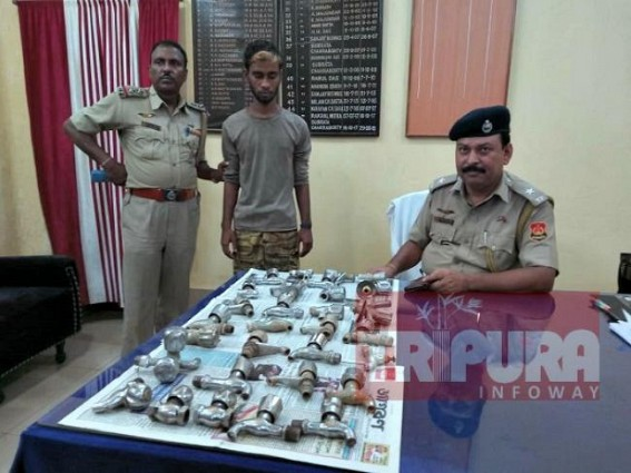 Water taps thief arrested by West Agartala Police