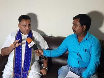 Sunil Deodhar addressing media. TIWN Pic Aug 23