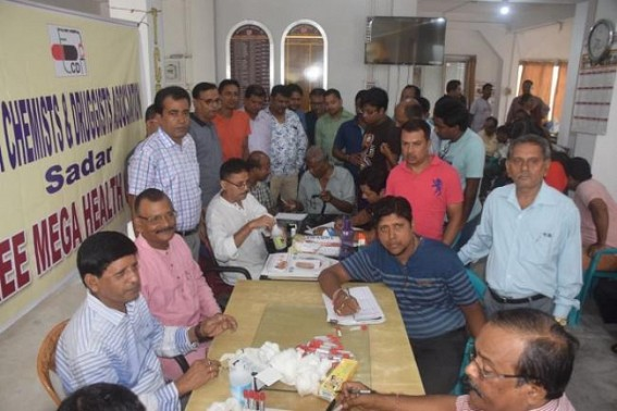 Tripura Chemists & Druggists Association organized Mega Health camp