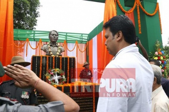 CM Biplab Deb unveils statue of Martyr Rabi Kumar Debbarma