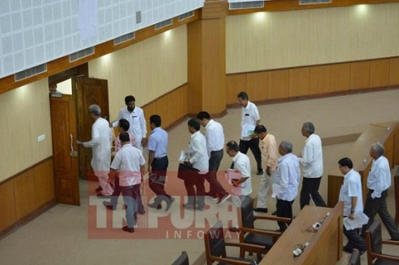 Uproars in Tripura Assembly over proposed bill to empower Police under ESMA, 1968, Opposition walked out