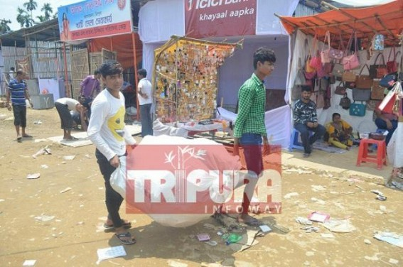 Businessmen retuning homes as 7 days long Kharchi fair is ended