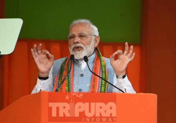 Lok Sabha Election : Modi assures 'Yuva-ko-kamai', 'Bujurgo-ko-dawai' in Tripura, public mass-rejected Modi's rally