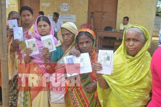 Re-Poll in West Tripura constituency begins at 7 am. TIWN Pic May 12