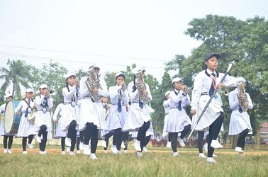 State-level band competition held at Umakanta Academy mini play ground. TIWN Pic Nov 19