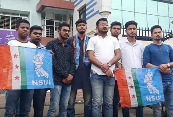 Khowai Professor beaten by students, harassed by Police : NSUI protested