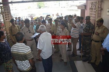 Police raided CPI-M HQ illegally. TIWN Pic Oct 14