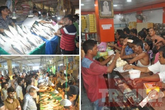 'Pohela Boshakh', a day for Bengali Foodies : Heavy sales in Agartala markets amid skyrocketing prices