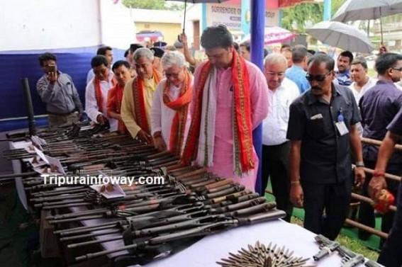 88 NLFT rebels surrender in Tripura