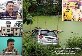 Tripura's Media Mafia Pranab Sarkar's Headlines Tripura running extortion empire : FIR filed against 'Headlines Tripura' channel Journalist for blackmailing, money extortion threat to Police Officer