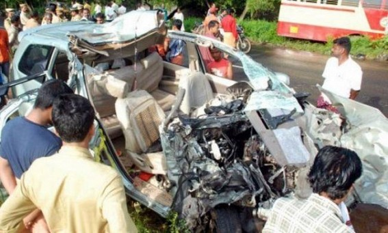 Four killed in road mishap in Tripura-Assam border
