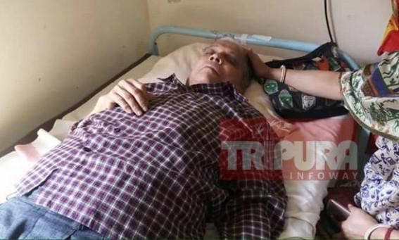 Tripura former Minister Badal Chowdhury fell sick in Jail custody, admitted in GB trauma centre