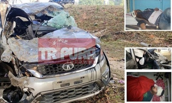 3 persons critically injured in road mishap