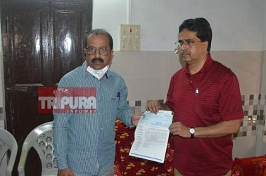 Massive donations in Chief Minister relief fund in Tripura as state fights COVID-19. TIWN Pic March 28