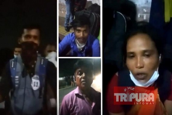 Stranded migrant workers of Tripura left on road in miserable conditions in Chennai, alleged 'No Financial Help received from Tripura Govt' : Suffered people beg to return Home