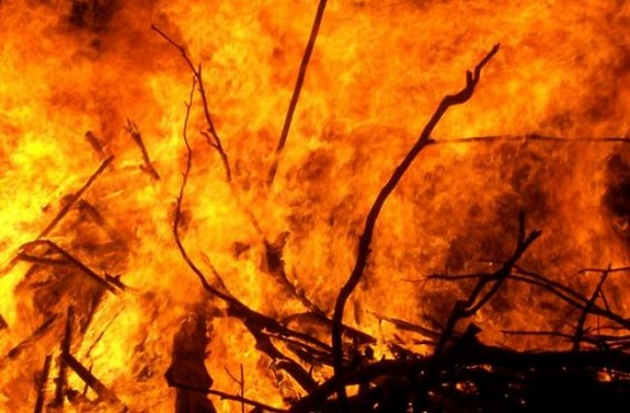 Massive fire breaks out at Malay Nagar