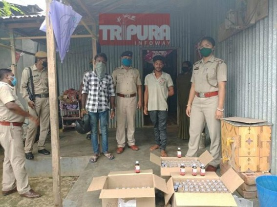 215 cough syrup bottles seized by West Agartala PS