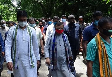 CM visited Lefunga Block to check water connectivity upgrades. TIWN Pic July 7