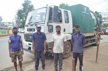 AMC workers were beaten by Badal Sarkar, Karunamoyi Iron shop-owner. TIWN Pic July 8