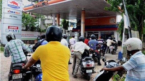 No Reduction : Petrol prices continue at above Rs. 80