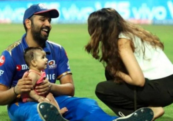 She wears it better than dada: Rohit posts picture with daughter
