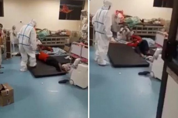 Fact Check : This patient in GB COVID-Centre in Viral Video Not suffering due to lack of Oxygen but an Narcotic-Addict