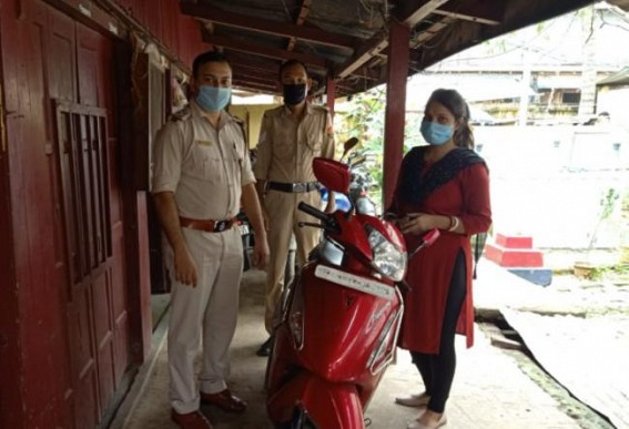Stolen scooty recovered by police in Agartala, No arrest