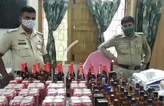 Police seized huge amount of foreign liquor amid Durga Puja