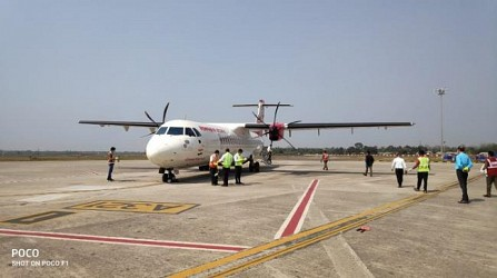 Air India Cargo flight landed with Essential Commodities in Tripura. TIWN Pic March 28