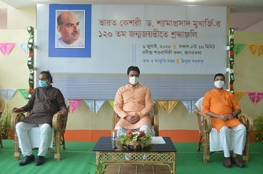 CM paid tribute to Dr Shyama Prasad Mukharjee. TIWN Pic July 6