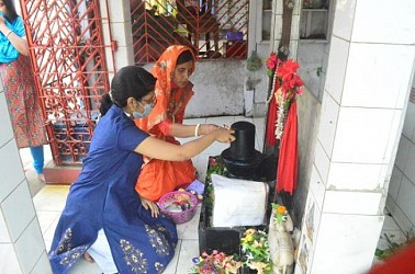 Shiv Puja observed in Agartala temples on the month of Shravan. TIWN Pic Aug 10