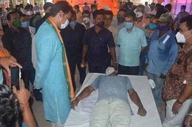 CM attended in a blood donation camp at Barjala. TIWN Pic Sep 20