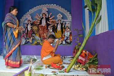 Shashthi Puja observed with full devotion in Agartala. TIWN Pic Oct 22