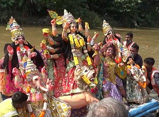 Immersion begins at Dasami-Ghat : Vijaya Dashami marks ending of Durga Puja 2020