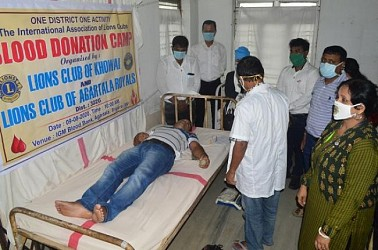 Lions Club held blood donation camp. TIWN Pic Aug 9
