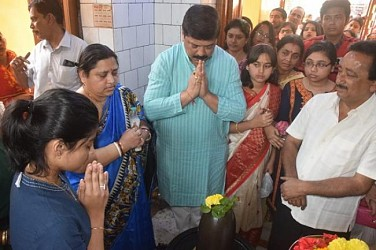 MLA Sudip Barman offered prayers to God on Maha Shiv Ratri. TIWN Pic Feb 22