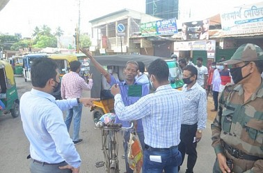 Mask Enforcement Day observed in Agartala. TIWN Pic Sep 18