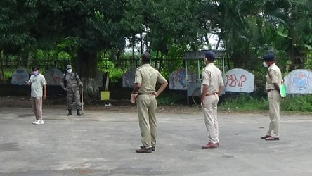 Police checking, Security beefed up on Mahalaya, fine imposed on Law Violators. TIWN Pic Sep 17
