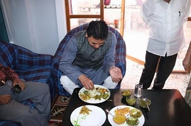 Biplab Deb had Sunday lunch in his own constituency Banamalipur. TIWN Pic Feb 23