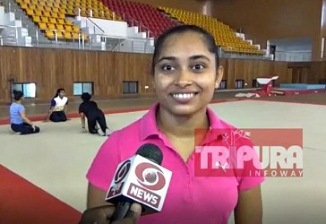 Gymnast Star Dipa Karmakar talking to TIWN on Govt gyms opening. TIWN Pic Aug 10