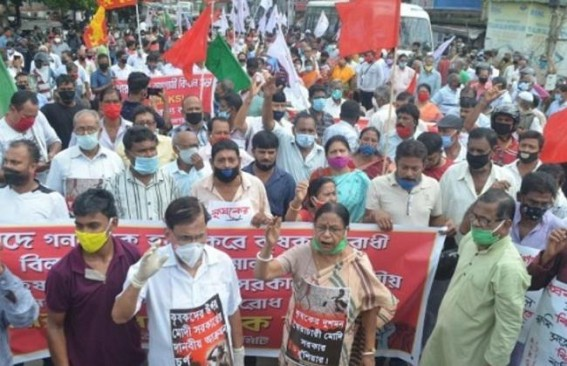 CPI-M Supports 'All India Protest Against Farm Bills' : Massive Rally in Tripura