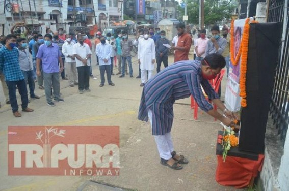 CPI-M paid tribute to murdered Journalist Santanu Bhoumik on his 3rd death anniversary