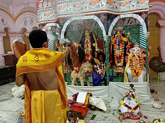 Goddess Durga worshipped on Durga Puja Saptami across Tripura. TIWN Pic Oct 23