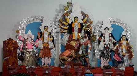 Dharmanagar Kalibari observed Durga puja. TIWN Pic Oct 23