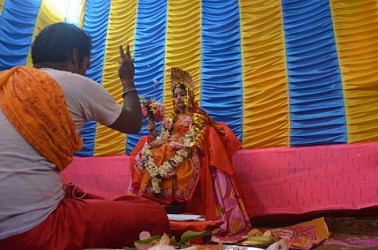 Kumari puja observed on Maha-Astami at Badharghat, Maitri Palli. TIWN Pic Oct 24