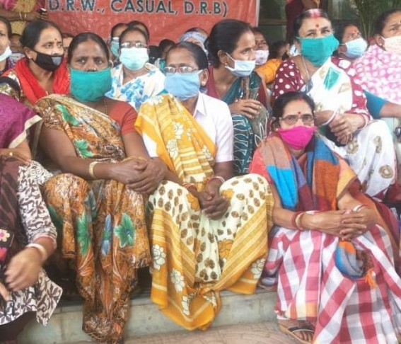 Tripura Contractual Health Workers gives ultimatum of 15 days for Regularization Decision