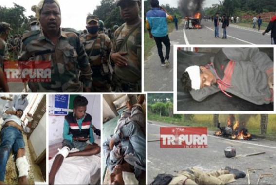 Anti-Bru repatriation protest triggered massive violence in Panisagar, 1 Civilian died in Police Firing : Many injured including Police Personnel, National Highway Blocked